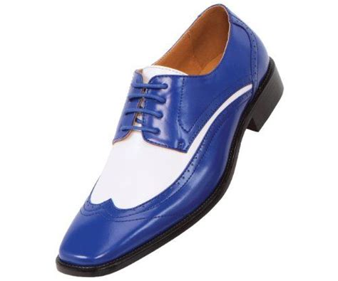 blue and white oxford shoes amali mens two tone royal blue and white oxford dress shoe