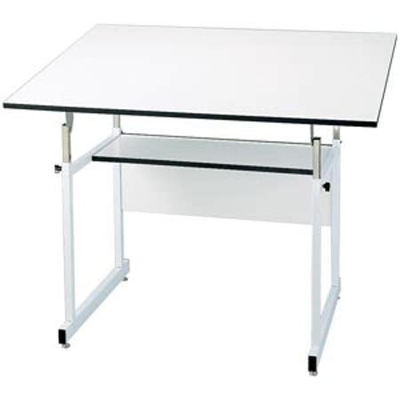 Alvin Workmaster Adjustable Drafting Table Alvin Workmaster Jr White W 31x42 Top