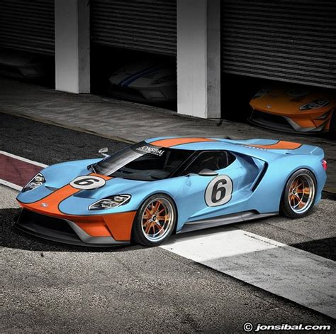 gulf car 2017 ford gt rendering frenzy leads to gulf oil livery and