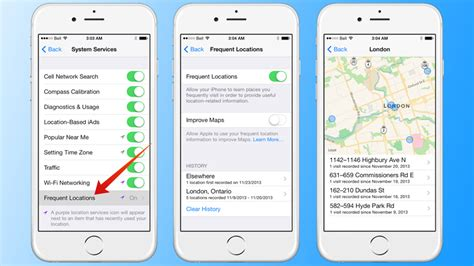 map   frequent locations  iphone