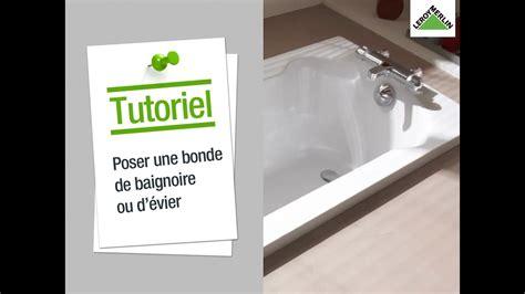 baignoire bonde comment poser une bonde un vidage de baignoire ou d 233 vier