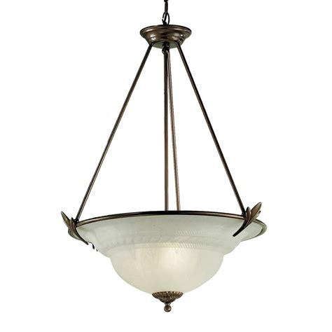 Classic Pendant Lighting Shop Classic Lighting Roma 23 In Bronze Single Alabaster Glass Bowl Pendant At Lowes