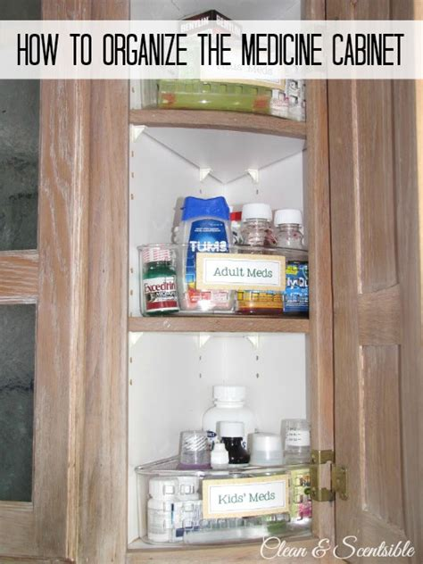 How To Organize Medicine Closet by How To Clean And Organize Your Kitchen Clean And Scentsible