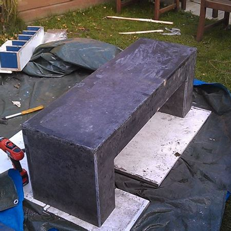 concrete bench forms how to make concrete garden bench designmind