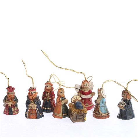 miniature nativity ornaments christmas and winter sale