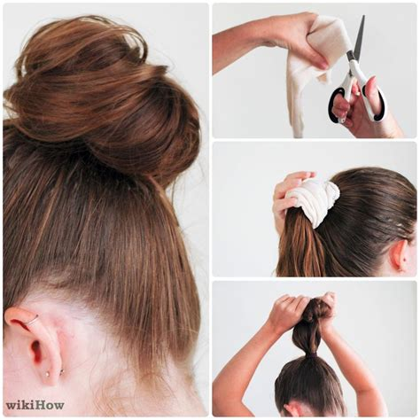 diy sock bun for hair how to do a sock bun