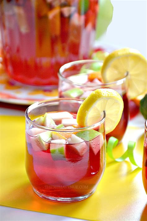 sangria recipe summer drink recipes the 36th avenue