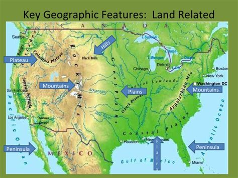 us physical map great plains thempfa org 2d geographic features