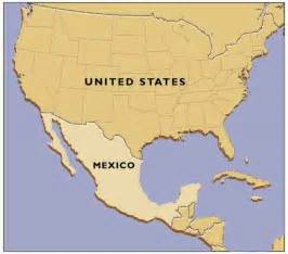 Usa Mexico Map by United States And Mexico Map Images