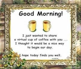 Quotes sayings virtual cup quotes morning coffee good morning