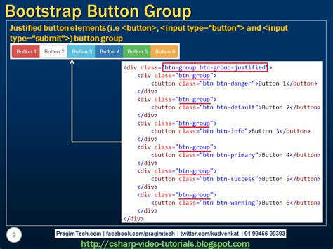 tutorial bootstrap c sql server net and c video tutorial bootstrap button group