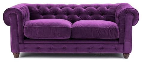 Purple Chesterfield Sofa Purple Velvet Chesterfield Sofa Two Seat Sofas Other Metro By Sylvester Oxford