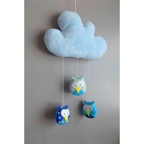 mobile chambre enfant mobile fait avec des hiboux suspendus 224 un nuage
