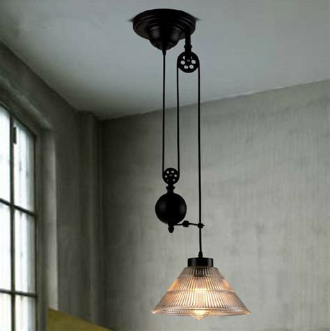 pulley pendant lights new vintage edison industrial pulley pendant lights w