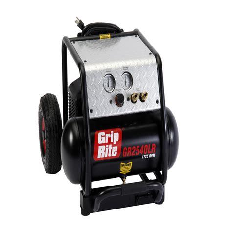 shop grip rite 4 gallon portable electric horizontal standard 71 decibel or above air