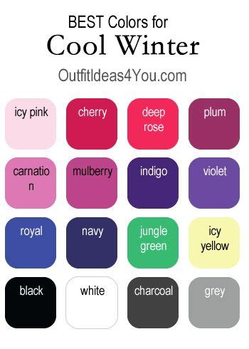 cool winter color palette 196 best cool winter outfits images on pinterest winter