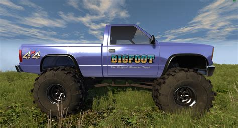 bigfoot 8 monster truck wip beta released d series bigfoot monster truck