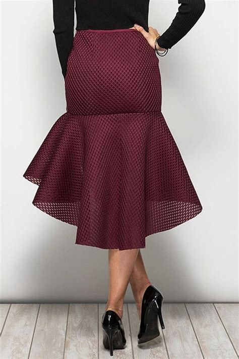 Trumpet Skirt she sky wine trumpet skirt from los angeles by snatched