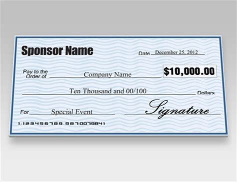 Large Checks Business Large Checks Customized Signazon Com Big Checks For Presentation