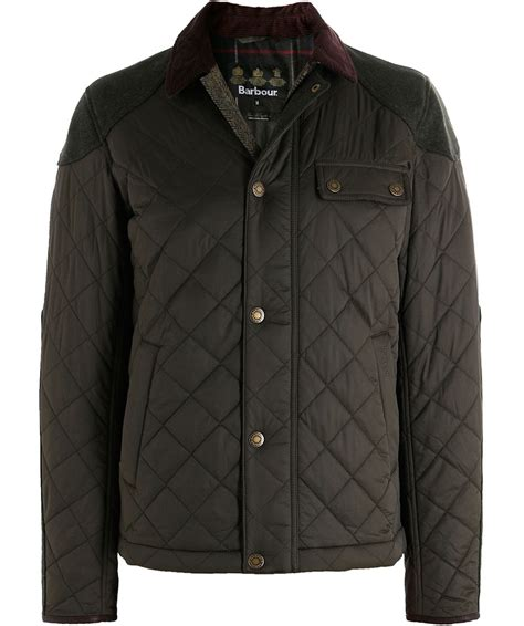 Olive Quilted Jacket by Olive Dunnotar Quilted Jacket By Barbour Morston Town