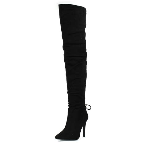 the knee high heels the knee high heel boot miss from miss