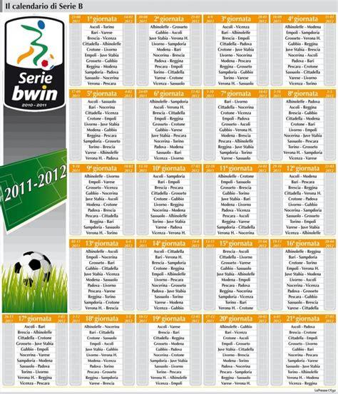 B Calendario Calendario Serie B