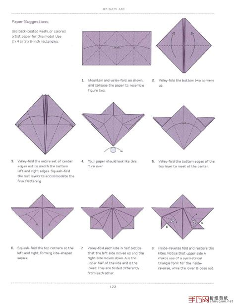 Simple Origami Tutorial - origami flowers diagram on how to fold a simple