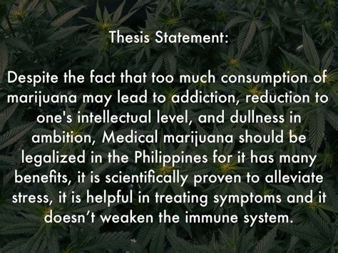 thesis in medicine legalization of cannabis by richlee prime