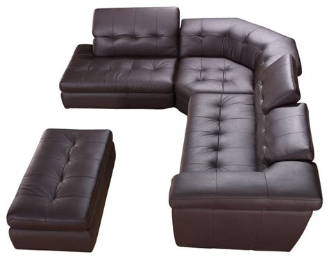 dark brown sectional couch 397 dark brown full tufted top grain italian leather