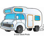 Camper Vector Clip Art Illustrations 3051 Clipart EPS
