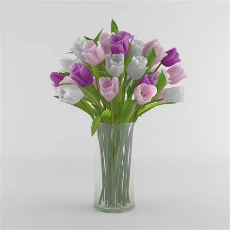 3d Flower Vase by 3d Tulip Flower Vase