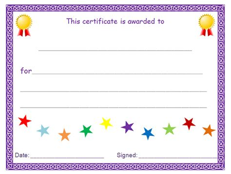 printable award certificate templates sleprintable