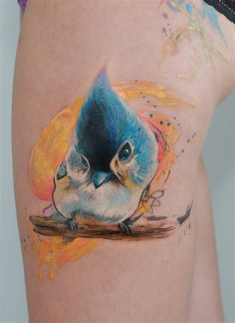 watercolor tattoo bird by dopeindulgence tattooimages biz