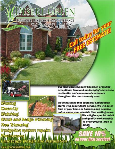 brilliant landscaping advertising ideas flyers for landscapers