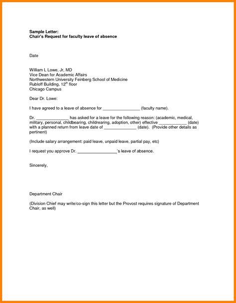 Absence Letter Sle For College 6 school leave letter format appeal leter