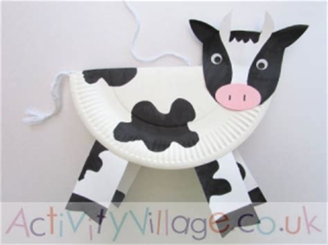 Cow Paper Plate Craft - paper plate cow template pictures to pin on