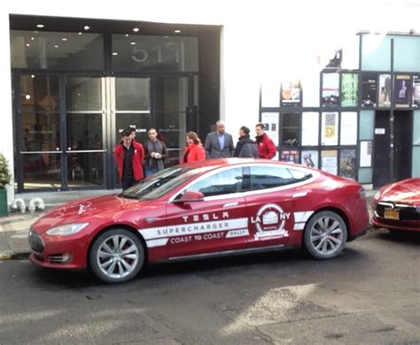 Tesla What Country Tesla Celebrates La To Nyc Cross Country Road Trip In Style