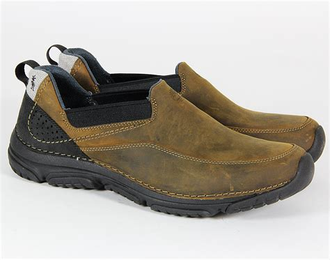 mens timberland casual slip on lace up boat leather