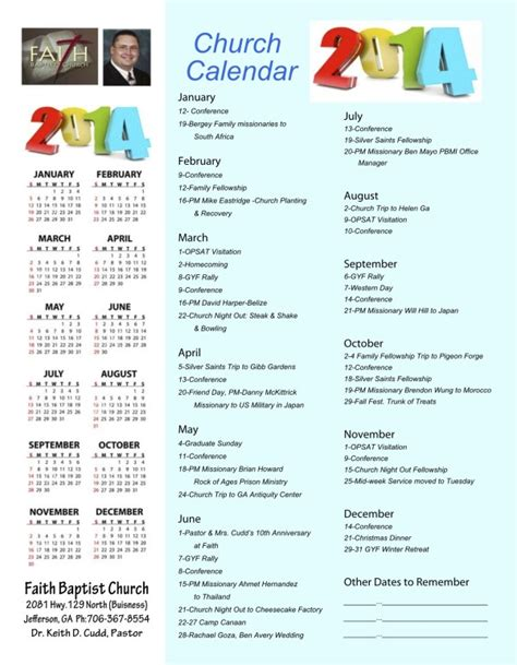 Church Calendar 2015 Search Results For Yearly Calendar Of Church Events