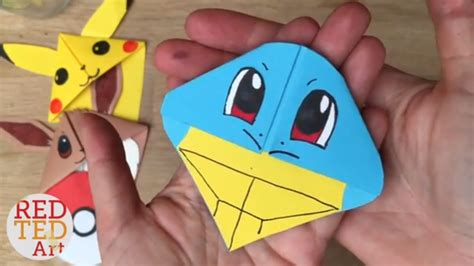 How To Make An Origami Squirtle - easy squirtle diy bookmarks origami inspire