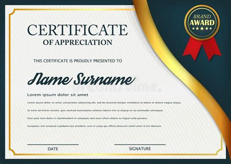 layout for certificate of appreciation creative certificate of appreciation award template