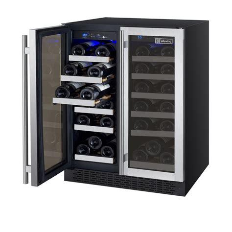 wine refrigerator allavino vswr36 2ssfn flexcount series wine refrigerator