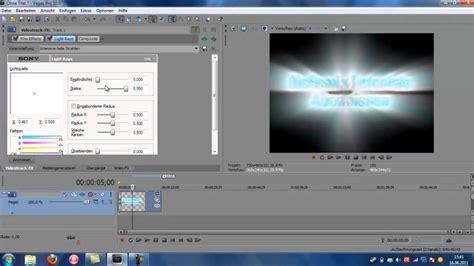 tutorial in sony vegas tutorial sony vegas pro 10 intro selber erstellen ganz
