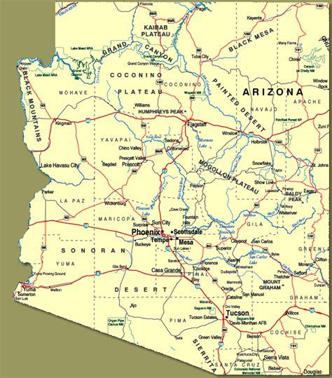 map of arizona cities arizona map with cities afputra