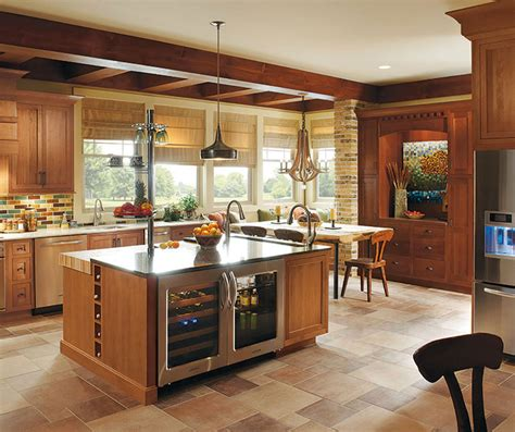 Kitchen Cherry Wood Cabinets Rustic Kitchen With Cherry Wood Cabinets Omega