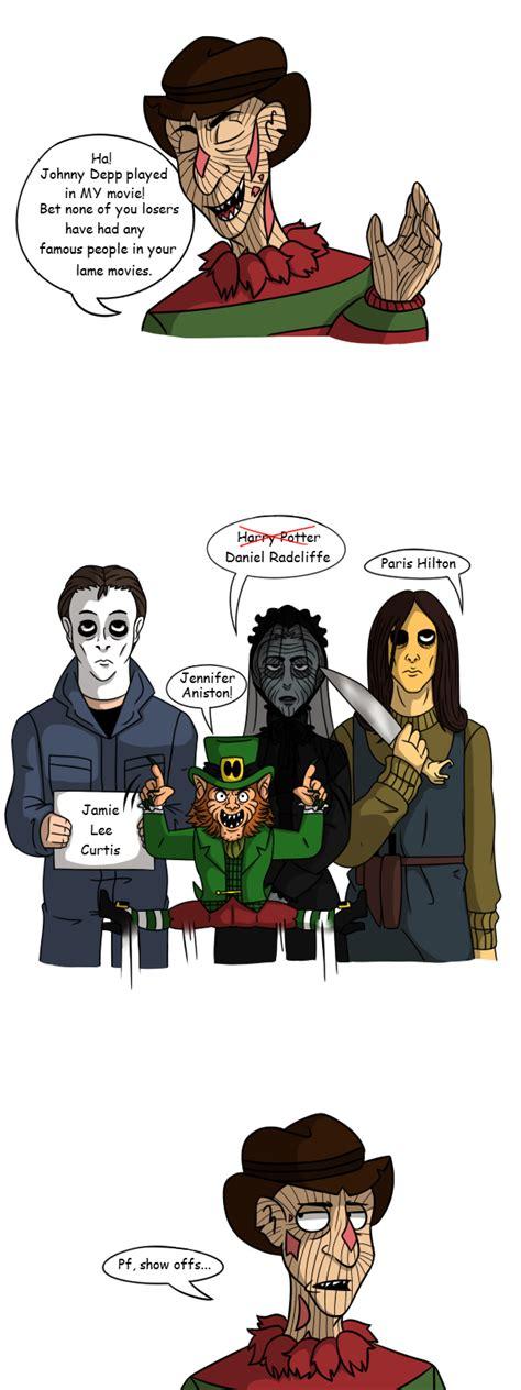 film cartoon horror celebrities in horror movies by bakhtak on deviantart