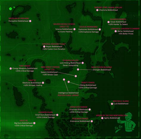 bobblehead list fallout 3 all fallout 4 bobblehead locations map skillshotter