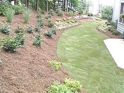 landscaping ideas for a sloped backyard triyae com ideas for a sloped front yard various