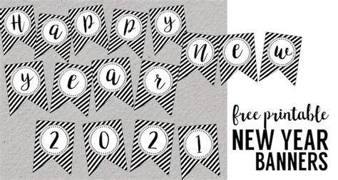 printable new years banner 2016 happy new year banner printable paper trail design