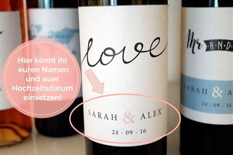 Sektflaschen Etiketten Drucken Kostenlos by Tolle Diy Hochzeitsdeko Flaschenetiketten Mit Euren Namen